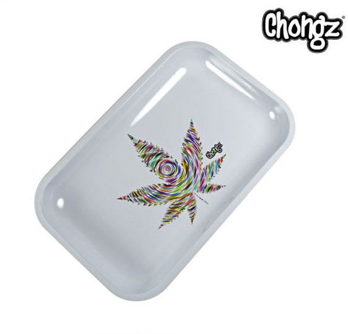 "Chongz ""White Leaf"" Rolling Tray"